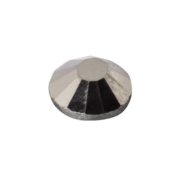 Hot-Fix Glas-Kristalle zum Aufbügeln, Ø5mm, 150 Stk., silber