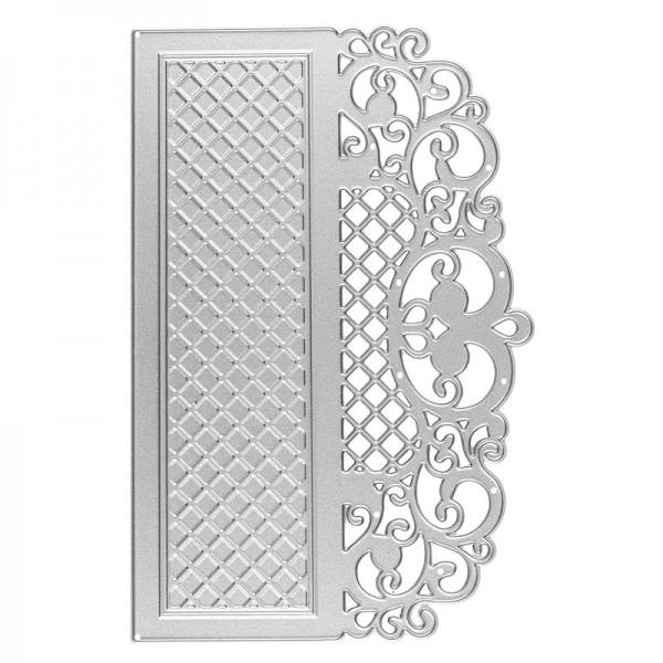Präge- & Stanzschablone, Bordüre 1, 14,3cm x 9,4cm, passend für gängige Präge- & Stanzmaschinen