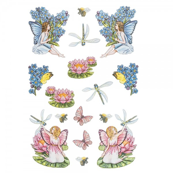 3-D Relief-Sticker, Elfenparadies 5, verschiedene Größen, selbstklebend