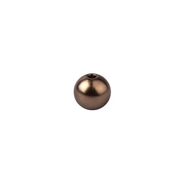 Perlen, Perlmutt, Ø 6mm, braun, 150 Stück