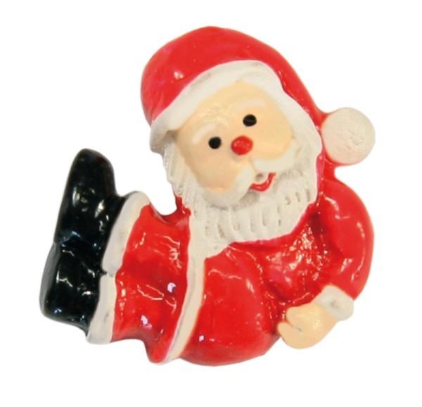Relief-Weihnachtsmänner, liegend, 2 x 2 cm, 10 Stück