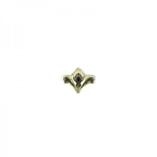 Ornament-Glitzersteine, 50 Stück, Design 8, lindgrün
