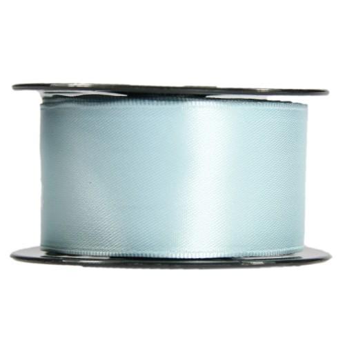 Satin-Schleifenband mit Drahtkante, 39mm x 10m, hellblau