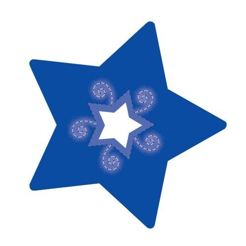 Stern-Stanzformen für 3-D Leuchtstern, 12 Stück, Design 9