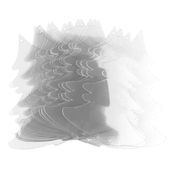 Windradfolien-Scheiben, Tanne, 16cm x 14,5cm, transparent, 500µ, 20 Stück
