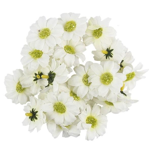 """Deko-Blüten """"Margerite 3"""", Ø 4cm, weiß, 27 Stück"""