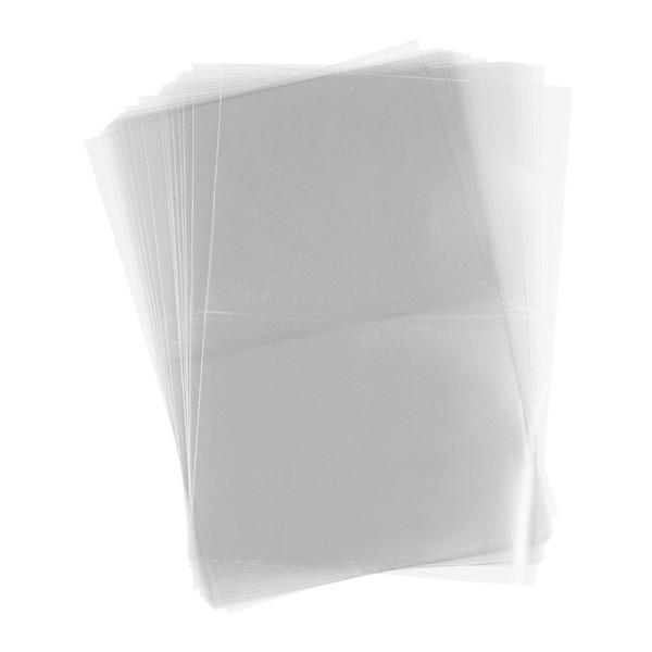 Folien-Grußkarten, 15cm x 10,7cm, transparent, 130µ, 20 Stück