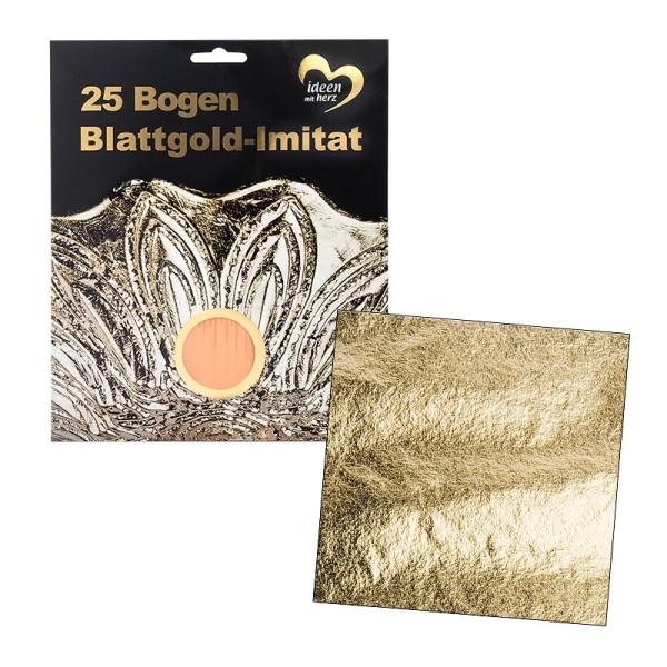Blattgold-Imitat, 15cm x 15cm, 25 Bogen