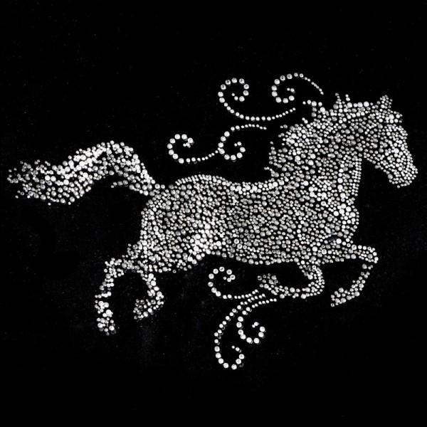 Bügelstrass-Design, DIN A4, mehrfarbig, Pferd