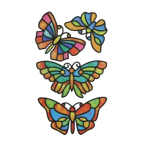 Glas-Design-Stickerbogen, 15 x 9 cm, Schmetterlinge