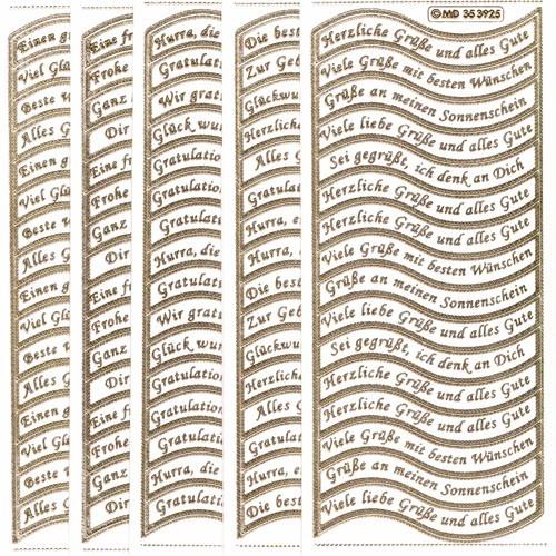 Gravur Sticker, 160 Schwungvolle Texte