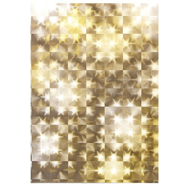 Lichteffekt-Folie, Stern, Kacheloptik, DIN A5