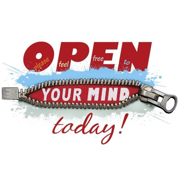 Color Bügeltransfers, DIN A4, Open your mind