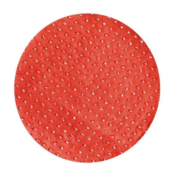 Satin-Kreise, Ø8cm, 50 Stück, Glitzer-Perlen, rot
