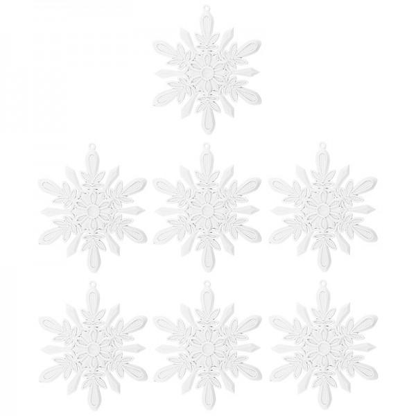 Winter-Deko, Rohling, Eiskristall 2, Ø 13,5cm, weiß, 7 Stück