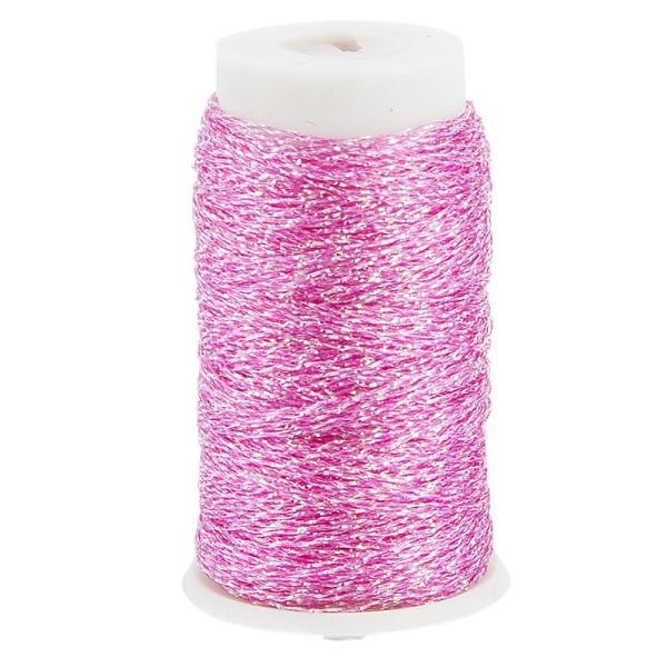 Metallic-Garn/Stickgarn auf Rolle, 30m, rosa