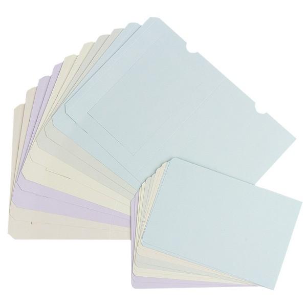 Zieh-Aufstellkarten, B6, 5 Farben, inkl. Umschläge, 10 Stück