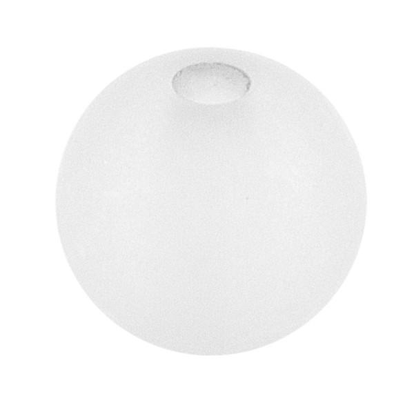 Perlen, gefrostet, Ø 6mm, 150 Stück, weiß