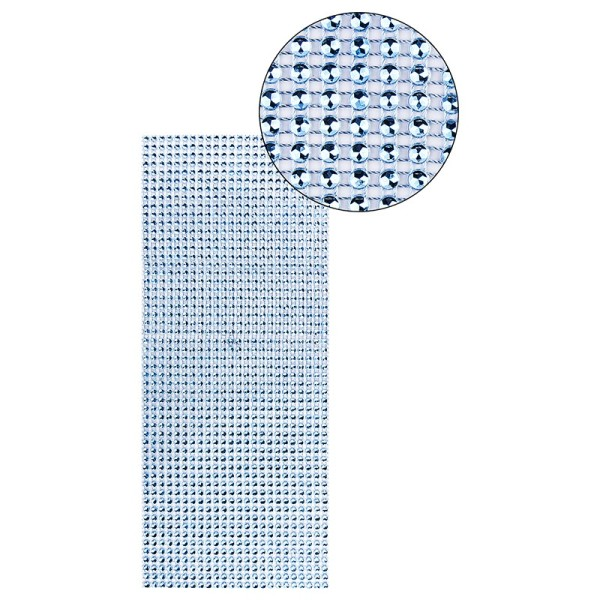 Schmuck-Netz, selbstklebend, 12cm x 30cm, blau