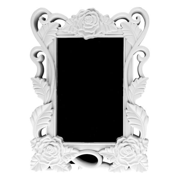 Relief-Wechselrahmen, Design 2, weiß, 15,5cm x 21,5cm, für Fotos 10cm x 15cm