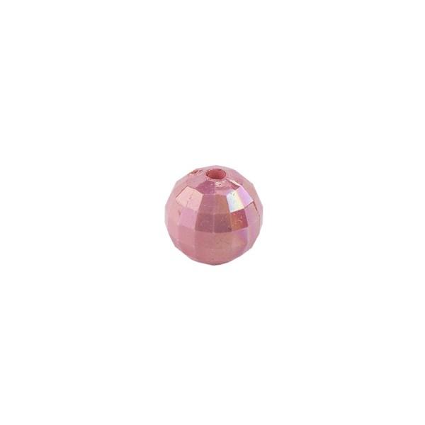 Perlen, facettiert, Ø 4mm, rosenholz-irisierend, 200 Stk.