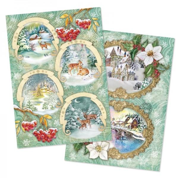 Reispapiere, Weihnachten 3, DIN A4, 2 Designs