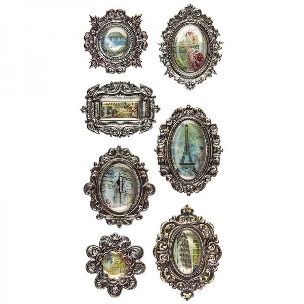 Relief-Sticker Nostalgie, Bilder 2, 17,5cm x 9cm