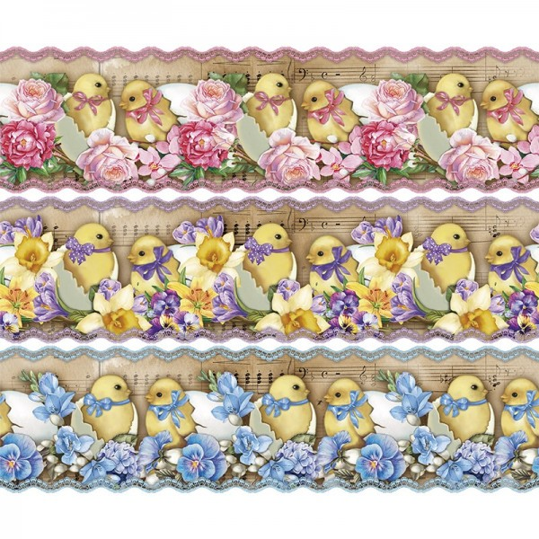 """Zauberfolien """"Nostalgie-Küken"""", Schrumpffolien für Eier mit 6cm x 4,5cm, 5,5cm hoch, 6 Stück"""