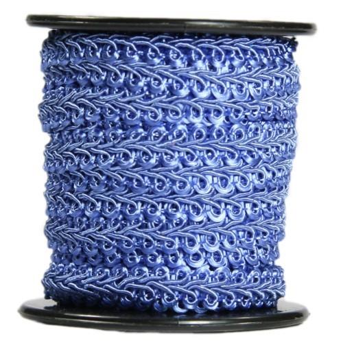 Bordürenband, Stoff, edle Schlaufen, 9mm x 10m, blau