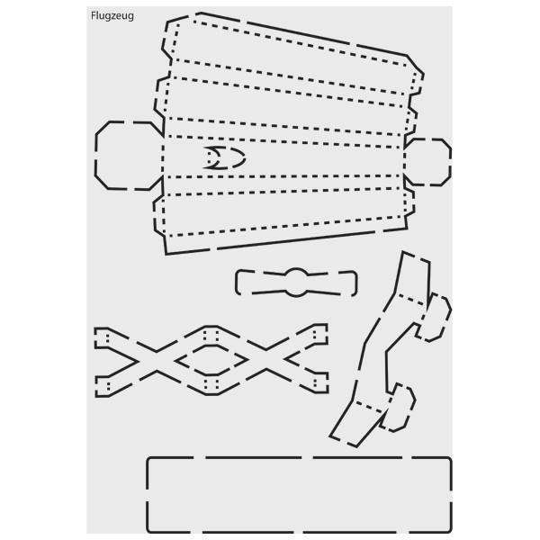 "Design-Schablone Nr. 10 ""Flugzeug"", DIN A4"