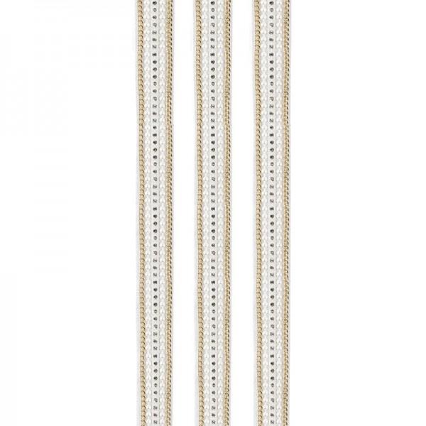 """Premium-Schmuck-Bordüren """"Eleganz 1"""", selbstklebend, 29cm, gold/perlmutt"""