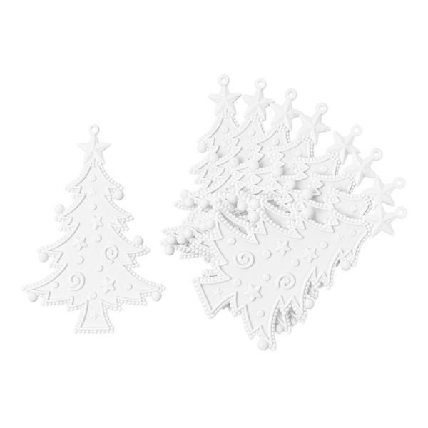 Deko-Tannenbäume 2, Rohlinge, 8,5cm x 12,5cm, 9 Stück