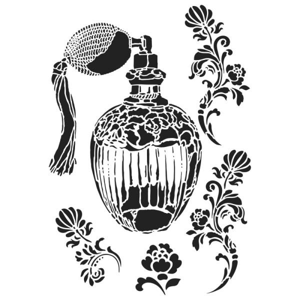 Laser-Kunststoff-Schablone, DIN A4, Parfum-Flakon