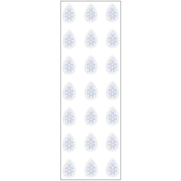 Kristallkunst, Schmuckstein Tropfen 1, 10cm x 30cm, selbsklebend, klar irisierend