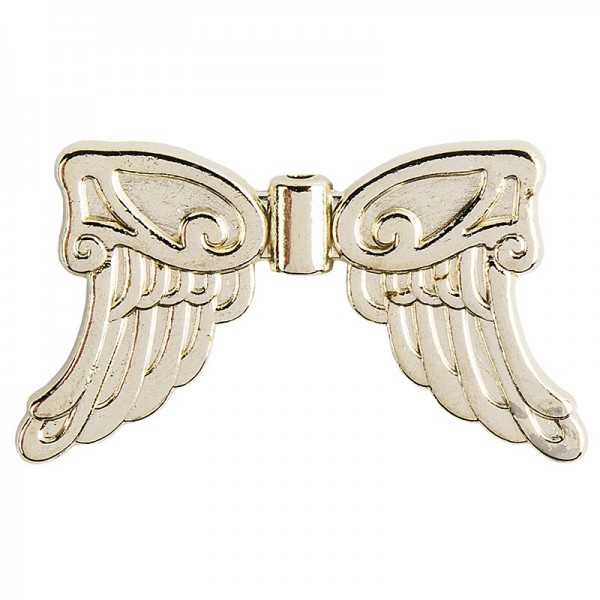 Engelsflügel, Design 5, 3cm, hellgold, 15 Stück