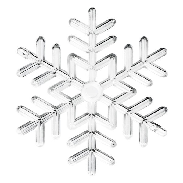 Deko-Eiskristall, Ø 8 cm, transparent/klar, 5 Stück
