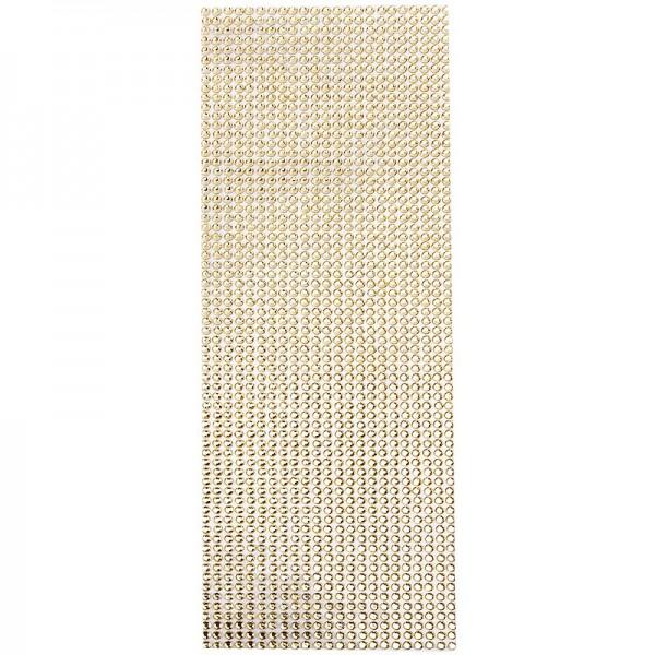 Schmuckstein-Matte, selbstklebend, 10cm x 30cm, facettiert, bernstein