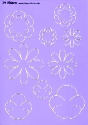 "Design-Schablone Nr. 29 ""Blüten"", DIN A4"