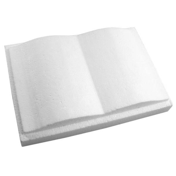 Styropor-Buch mit Steckfuß, 2-teilig, 13,5 x 19,5 x 3,5cm