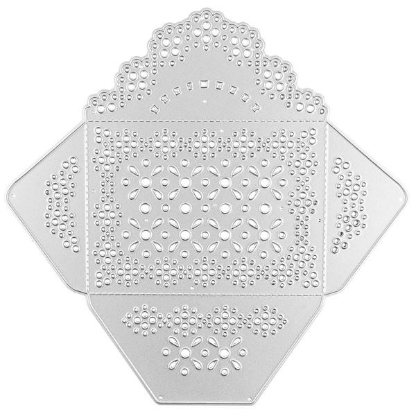 Stanzschablone, Umschlag, 16cm x 16,2cm, passend für gängige Stanzmaschinen