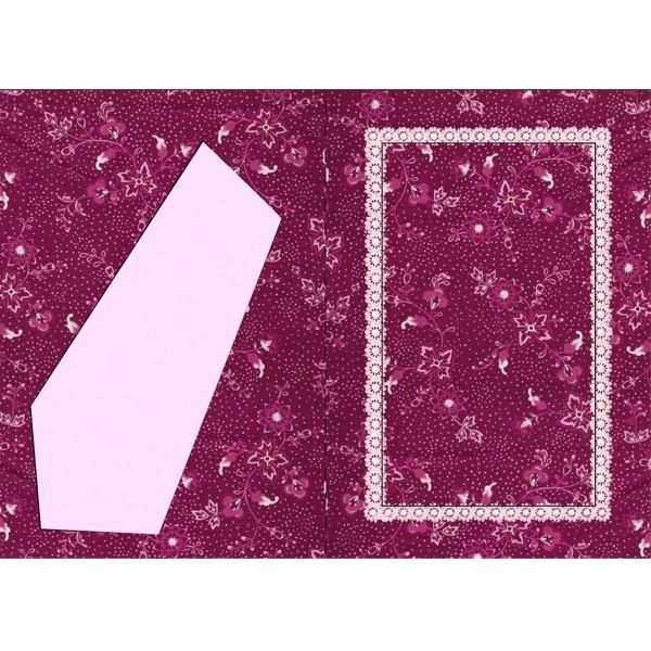 Bilderrahmen-Karte, Blütentraum, B6