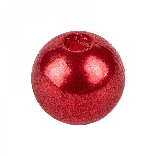 Perlen, Perlmutt, Ø 8mm, rot, 120g
