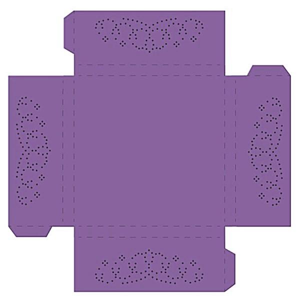 Prickelpodest für Deko-Lichtwürfel, 11x11cm, violett