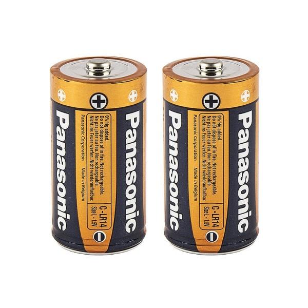 Batterien, C/LR14, 1,5V Alkaline, 2 Stück
