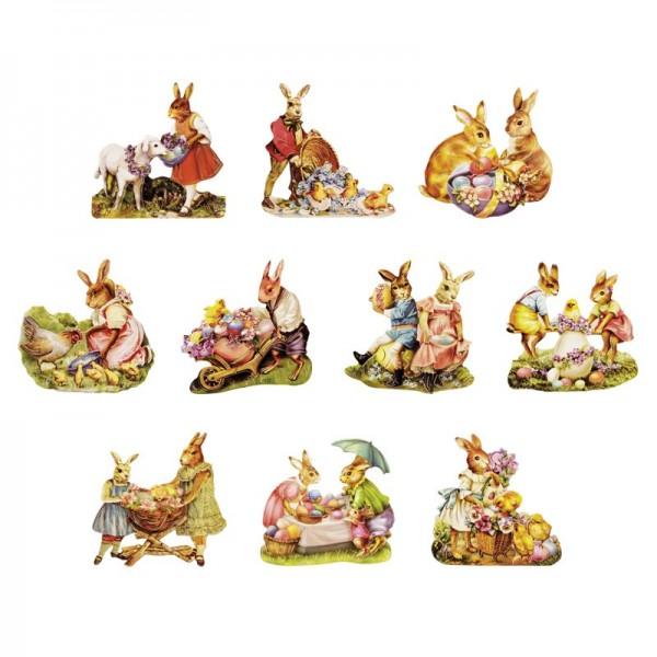 3-D Motive, Ostern, Gold-Gravur, 7,5-8cm, 10 Motive