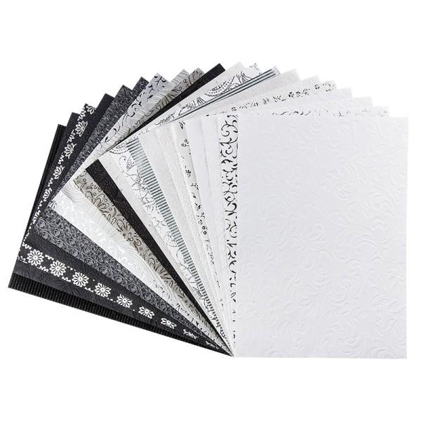Naturpapiere, India Kollektion, DIN A4, Block mit 20 Blatt, Sortierung 4