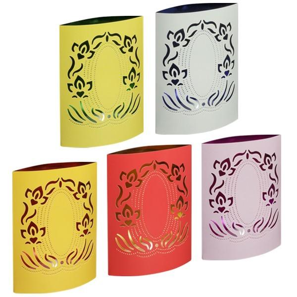 """Spiegel-Prickelleuchten """"Blütenranke"""", 14,5 x 18 cm, 5 Stück"""