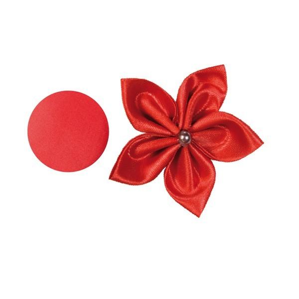 Satin-Stanzform, rund, Ø6cm, 50 Stück, rot