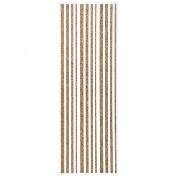 Glitzer-Bordüren, Sticker-Linien, 30 cm lang, 3-6 mm, kupfer