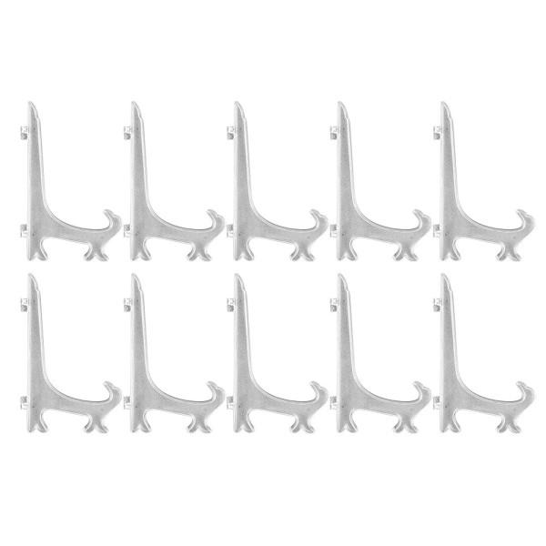 Staffeleien, für Rahmen & Bilder, 15cm x 9,7cm, klappbar, klar, 10 Stück